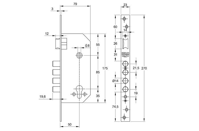 W900b Mortise Lock Ifam