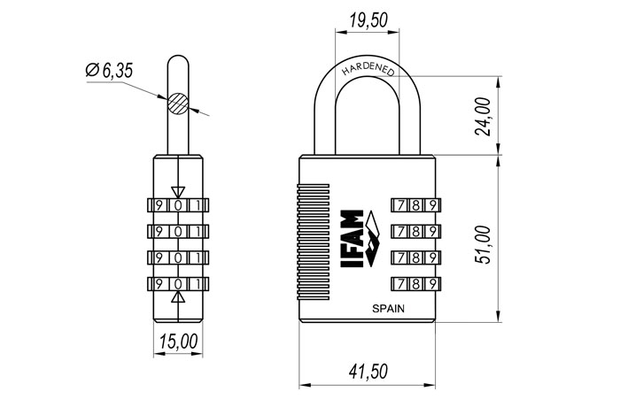 Remarkable R4Mk Combination Padlock With Emergency Key Ifam Wiring Cloud Pendufoxcilixyz