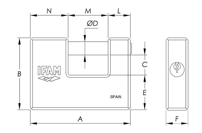 dimensiones-candado-serie-u-ifam