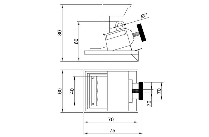 abrazadera-bloqueo-interruptor-ifam-dimensiones