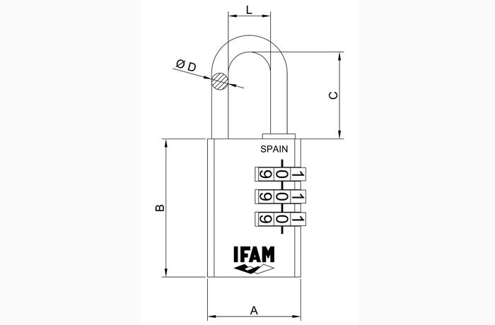 dimensiones-candados-combinacion-ifam-serie-cr