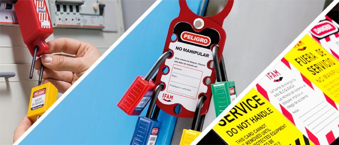 productos para bloqueo y etiquetado de maquinaria y equipos industriales